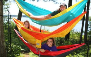 hanging out in hammocks